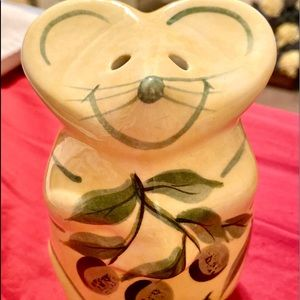 Laurie Gates Ceramic Mouse Parmesan Cheese Shaker